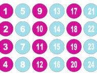Vorlage Adventskalender Zahlen zum Ausdrucken
