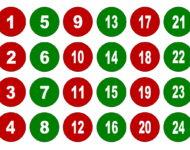 Zahlen für Adventskalender selber basteln und ausdrucken