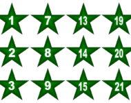 Geschenkideen Adventskalender zum befüllen Xobbu Vorlage Sterne