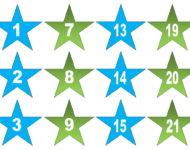 Vorlage Sterne Zahlen für Adventskalender Xobbu kostenlos