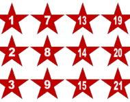 Rote Sterne Xobbu Advent kalender