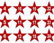 rote Sterne Adventskalender basteln und befüllen Ideen