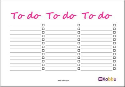 To Do Liste - 3 Tage
