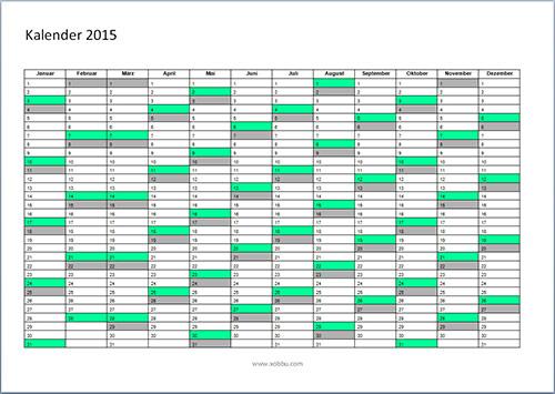 Jahreskalender-Vorlage