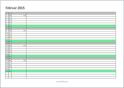 Wunderbar 2015 Monatliche Kalendervorlage Galerie - Entry Level ...