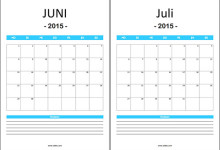 Kalender-Vorlage-Notizfeld