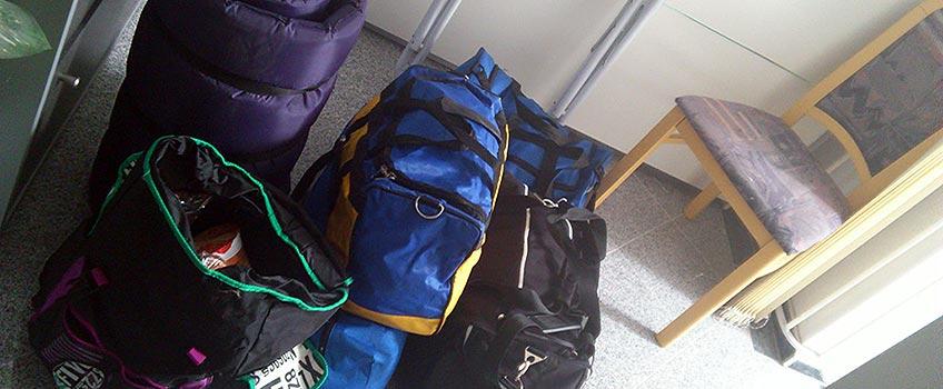 Gepäck fürs Festival