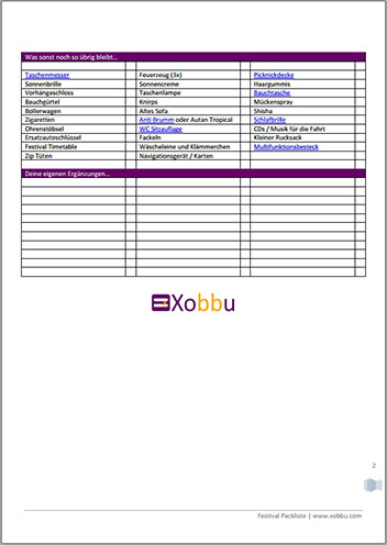 Festival Packliste Seite-2