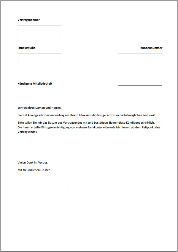 xobbu vorlage zum download - Wie Schreibt Man Eine Kundigung Muster