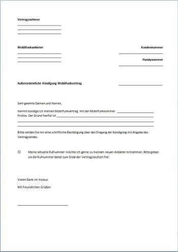 Kündigung-Handyvertrag-Fristlos-PDF
