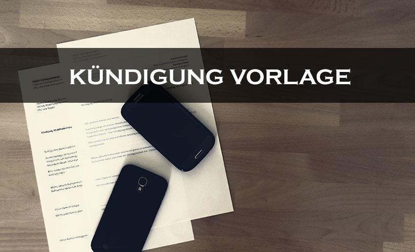 Kündigung Handyvertrag | Vorlage | Text | Word | PDF