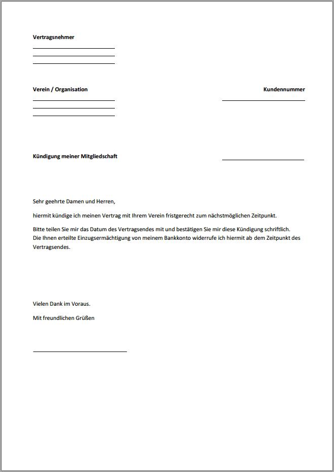 depot kndigung licht verstndlich die kndigung muss schriftlich mit einem formblatt oder formlos muster fr eine ordentliche depot kndigung - Bausparvertrag Kundigen Muster