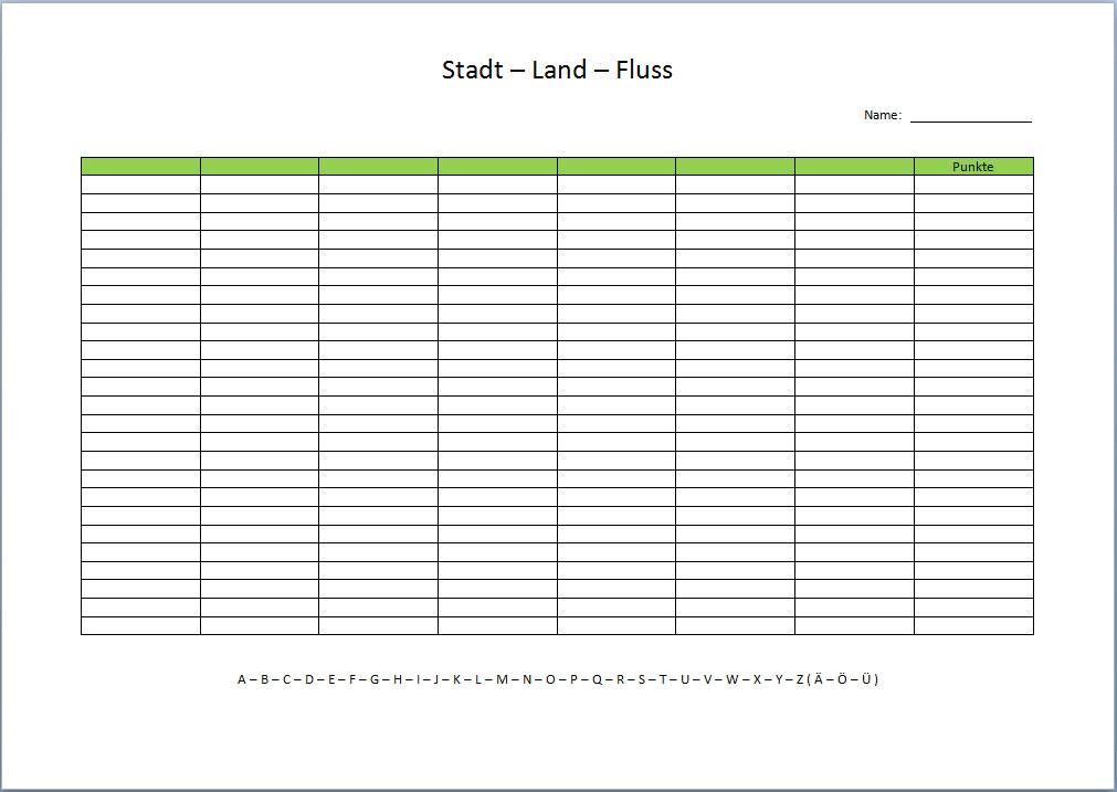 Stadt land fluss vorlage xobbu for Tabelle mit 9 spalten