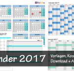 Kostenlose Kalendervorlage