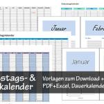 Geburtsagskalender Vorlage Excel PDF