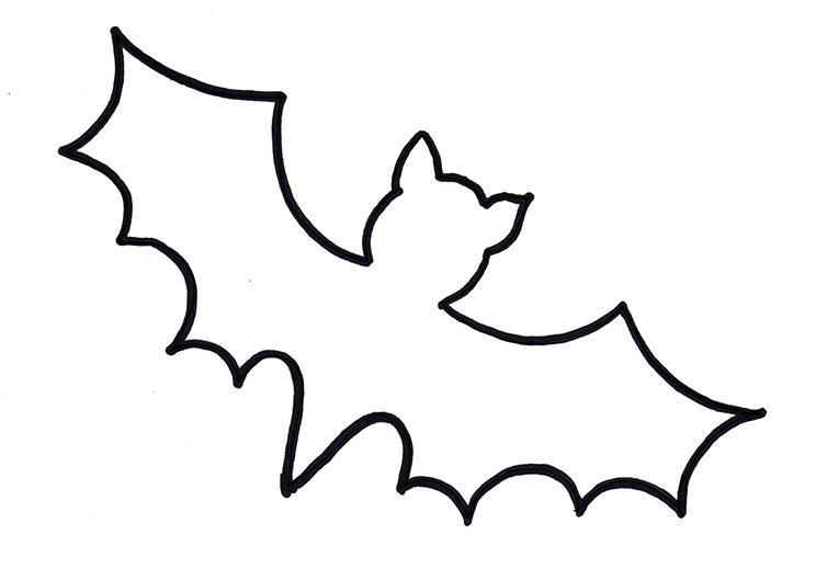 Fledermaus zum Basteln