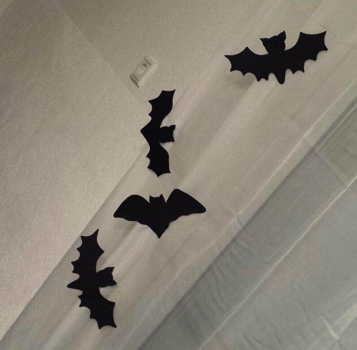 Halloween basteln Fledermaus