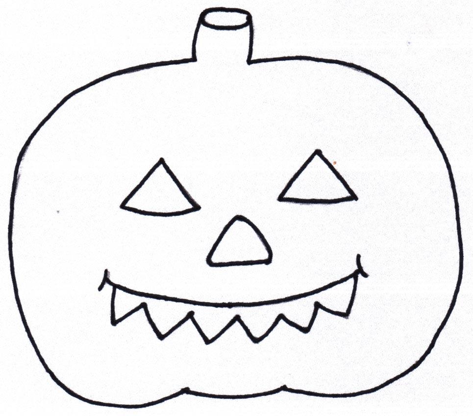 Kürbis Halloween Vorlage
