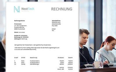 Rechnungsvorlage – Word, Excel & PDF Musterrechnung kostenlos Download